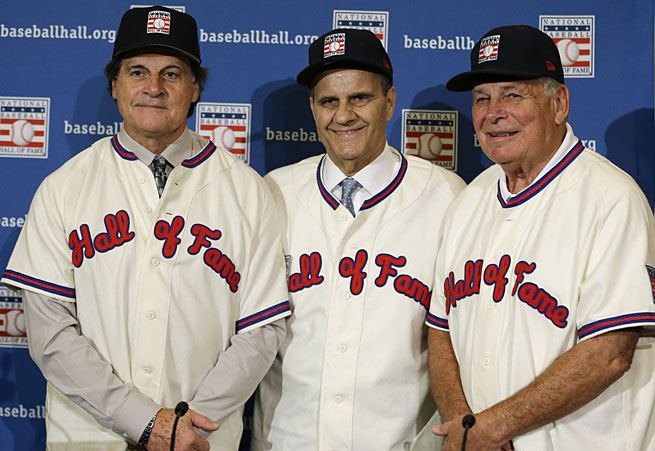 Legendary managers Tony La Russa, Joe Torre and Bobby Cox were unanimously elected to the Hall of Fame.