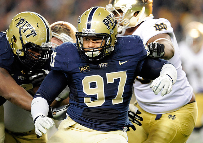 Aaron Donald (97) has the potential to be taken in the first two rounds of the 2014 NFL draft.