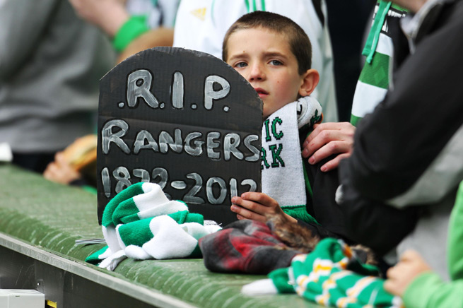 Even the youngest of Celtic fans is well versed in the sorrows encompassing bitter rival Rangers.