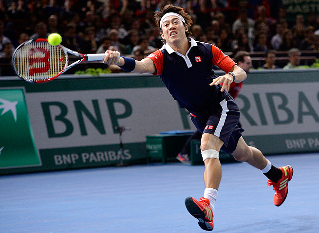 Kei Nishikori lost in round three to Richard Gasquet at Paris Masters, his last tournament of the year.