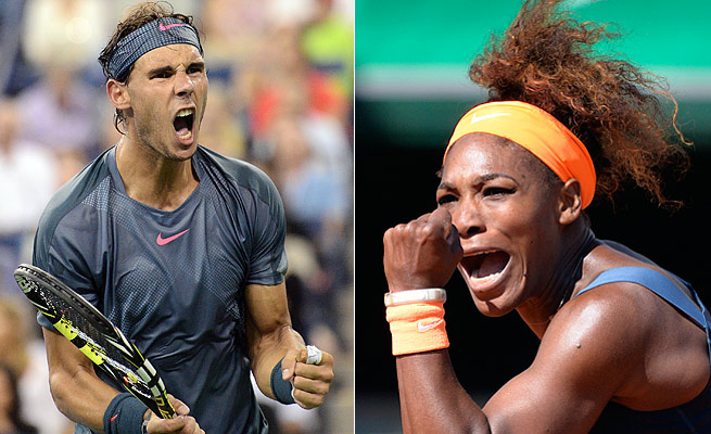 Rafael Nadal and Serena Williams both won two major titles and regained the No. 1 ranking in 2013.