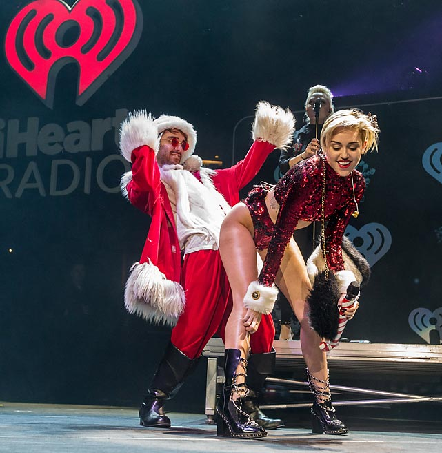 Nothing like wholesome family entertainment for the hoiidays, eh? This was on display at KIIS FM's Jingle Ball 2013 at Staples Center in LA.