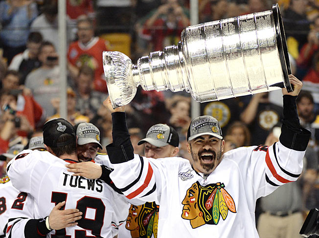 Jamal Mayers, 39, went out on top, hoisting the Cup in his final NHL season.
