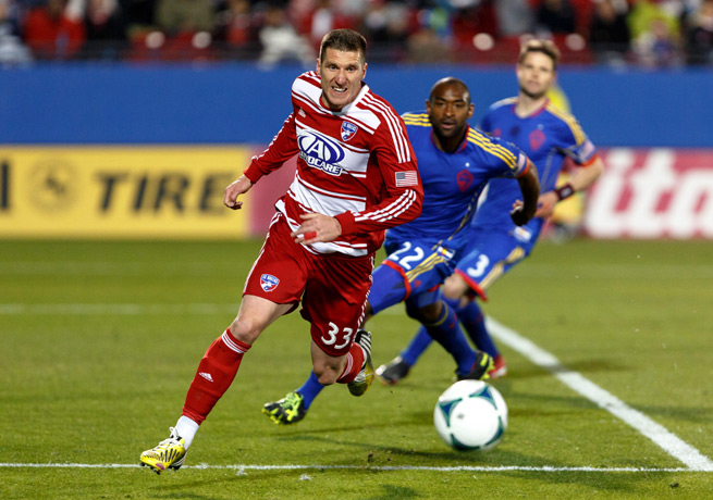 Kenny Cooper (33) will provide a big attacking body up front for the Sounders next season.