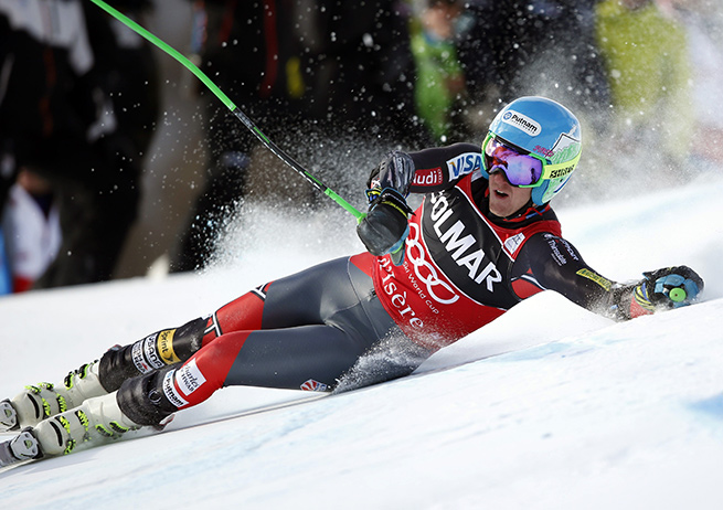 Ted Ligety went out on his opening run in Saturday's World Cup grand slalom event.
