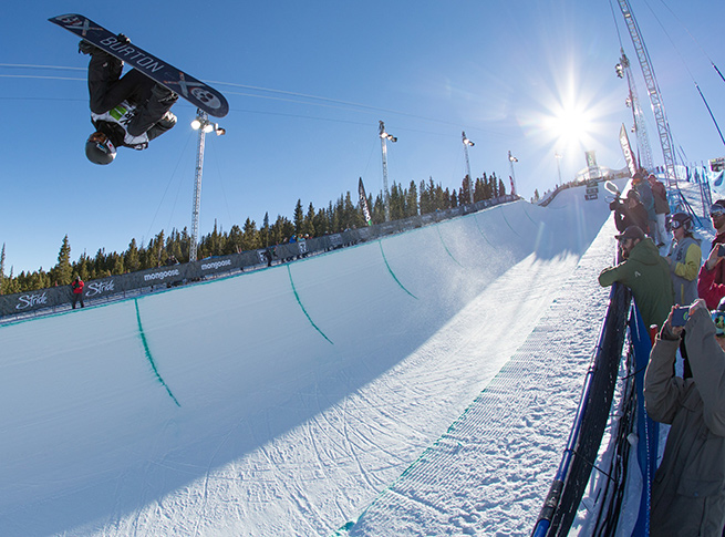 Shaun White finished second in the first Olympic qualifier event of the season.