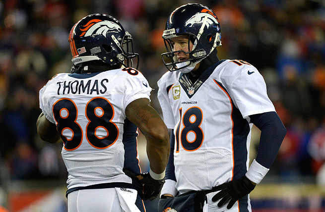 Leading receiver Demaryius Thomas says Manning's self-motivation and drive impacts his Broncos teammates.