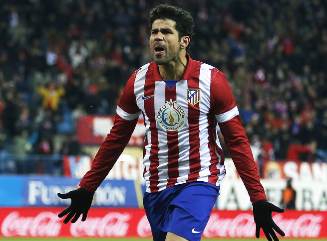 Diego Costa continued his top form in Atletico Madrid's dominant win over Valencia.