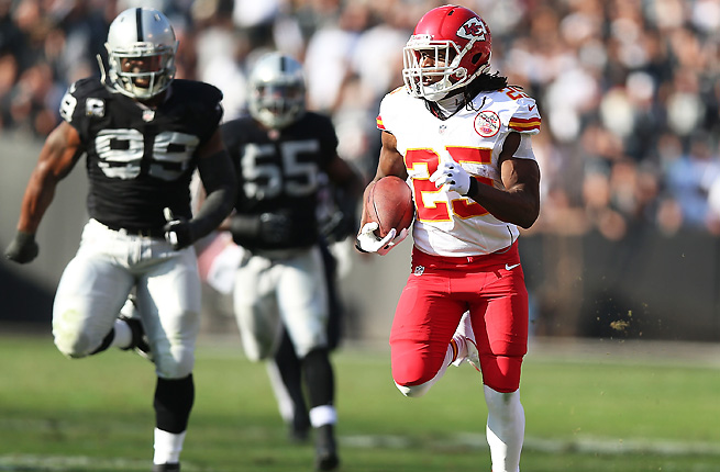 The Chiefs' Jamaal Charles had a day for the ages by scoring five touchdowns against the Raiders.