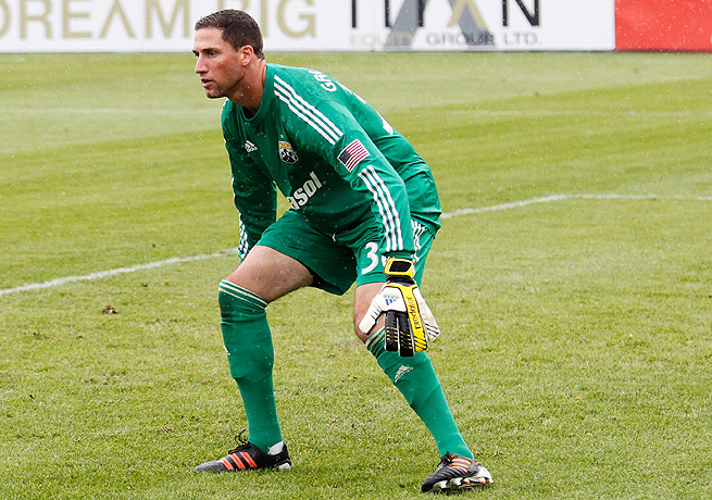 Andy Gruenebaum started 21 games and compiled four shutouts for Columbus this past season.