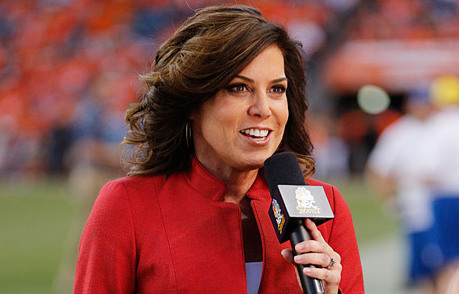 Michele Tafoya proved a reliable resource of news during Sunday Night Football telecasts.