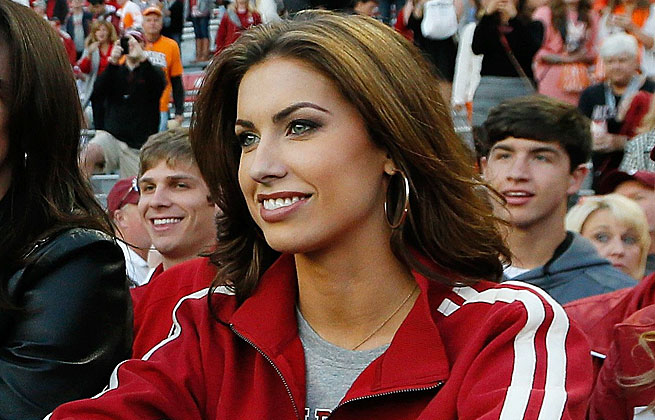 Katherine Webb's appearance at Alabama's national title game became a focus of ESPN's coverage.