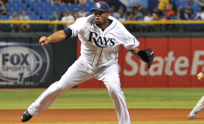 Roberto Hernandez went 6-13 as a starter for the Rays in 2013, and earned one save is eight relief appearances.