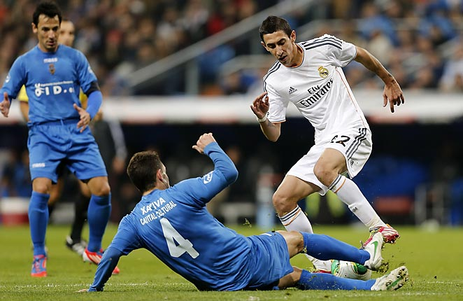 Angel Di Maria scored a first-half penalty as Real Madrid dispatched of third-division Olimpic Xativa.