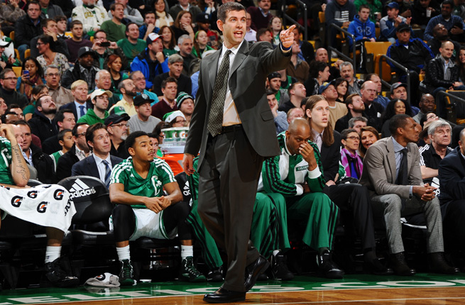 Brad Stevens and the Celtics currently stand at 12-15 with a one-game lead in the Atlantic Division.