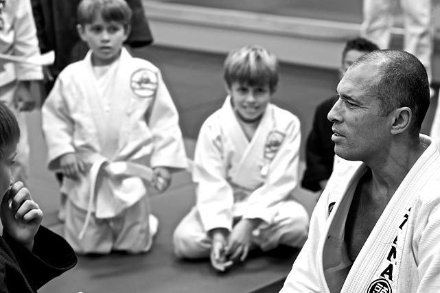 Royce Gracie passing it on.