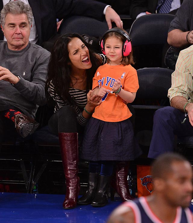 The host of Bravo's <italics>Top Chef</italics>, at the center of a recent racism kerfuffle with Questlove, shared a more tender moment with her daughter as the Washington Wizards engaged the New York Knicks in a little basketball contest at Madison Square Garden.