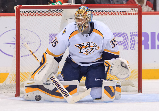 When healthy, Pekka Rinne is key part of the Predator's resilience in the defensive zone.
