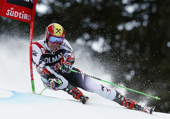Marcel Hirscher's win at Alta Badia was his second consecutive victory in giant slalom.