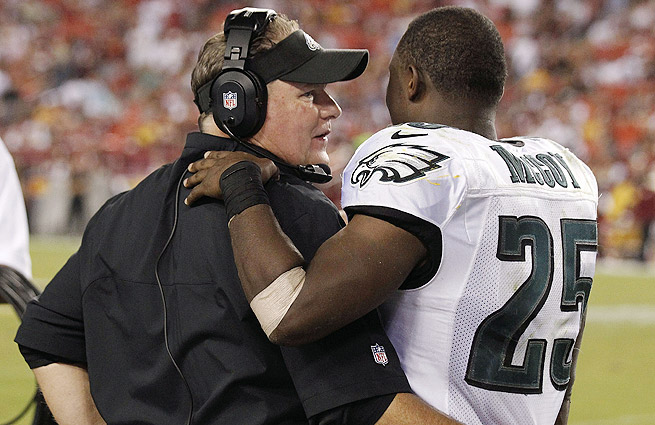 The pairing of Chip Kelly (left) and LeSean McCoy has proved devastating for opposing defenses.