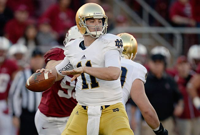 Tommy Rees (11) should end his Notre Dame career on a high note against a porous Rutgers' defense.