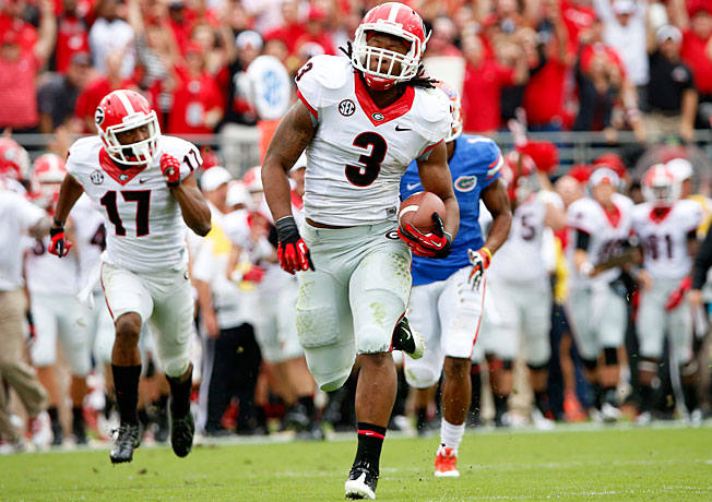 Tailback Todd Gurley (3) and Georgia won four of their final five games to close out the regular season.