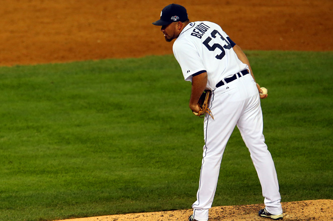 Joaquin Benoit, who turns 37 in July, is expected to replace setup man Luke Gregerson.
