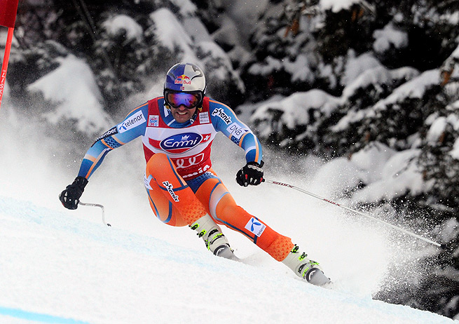 Aksel Lund Svindal's downhill victory was his first World Cup win at Bormio.