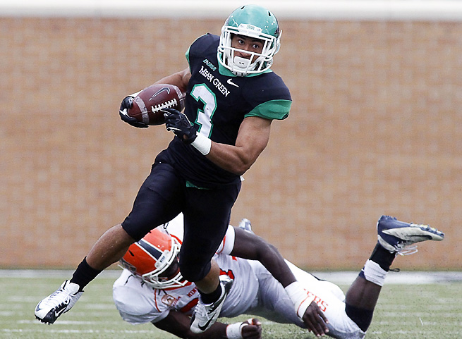 North Texas wide receiver Brelan Chancellor logged three games this year of at least 100 yards receiving.