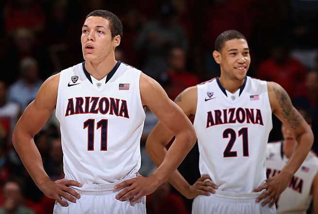 Aaron Gordon (left) and Brandon Ashley have helped the Wildcats to a 13-0 start.