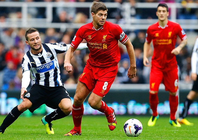 Liverpool's Steven Gerrard suffered a hamstring injury against West Ham on Dec. 7.