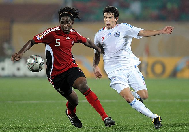 Akeem Adams (left), seen here in 2009, was a part of Trinidad and Tobago's national team program.