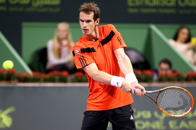 Andy Murray let a 6-3, 3-0 lead slip away against Germany's Florian Mayer in the Qatar Open.