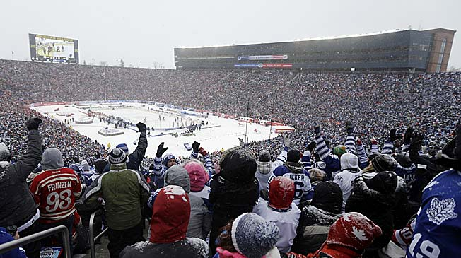 A record crowd battled traffic, freezing temperatures and lots of snow ... and loved every minute of it.