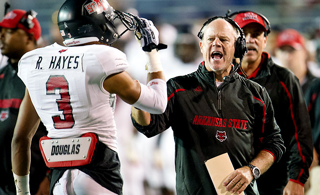 John Thompson will be the interim coach for Arkansas State in a bowl for the second straight year.