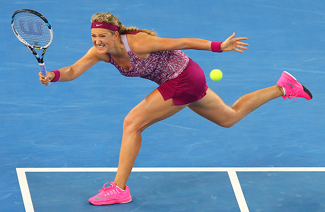 It took a set for Victoria Azarenka to find her momentum, but she eventually took down Jelena Jankovic, 1-6, 6-3, 6-4.