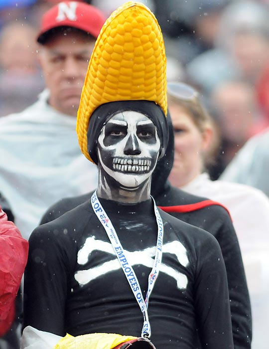 A living replica of Ty Cobb, this avid Nebraska partisan, who has attained the rank of kernel, graced the grimly titled TaxSlayer.com Gator Bowl between his beloved team and the Georgia Bulldogs in Jacksonville, Florida.