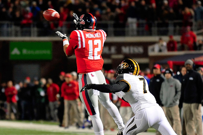 Wide receiver Donte Moncrief had 59 catches for 938 yards and six touchdowns for Ole Miss this season.