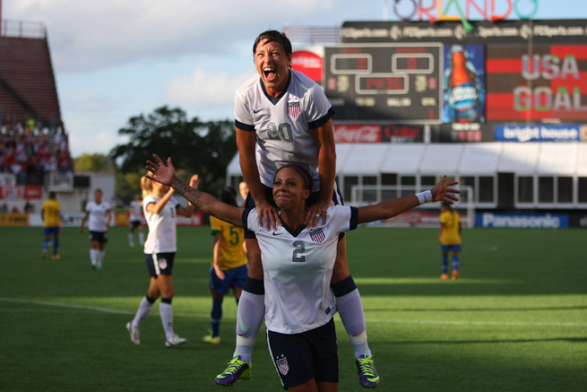 Abby Wambach (20) and Sydney Leroux will lead the U.S. women's national team in a pair of friendlies against Russia, one on Feb. 8 in Boca Raton, Fla. and another Feb. 12 in Atlanta