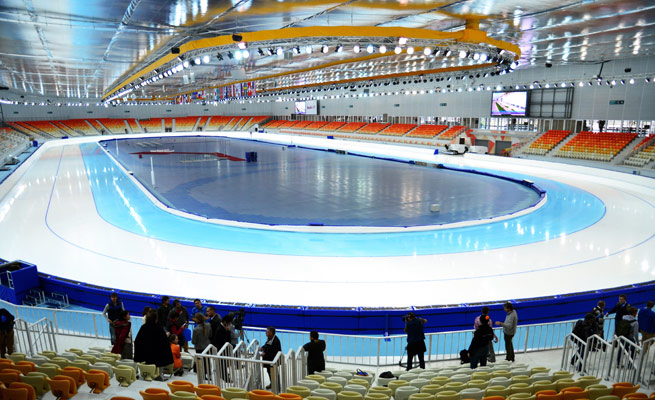 Adler Arena's advanced heating and cooling system can create ideal temps for skaters and spectators.