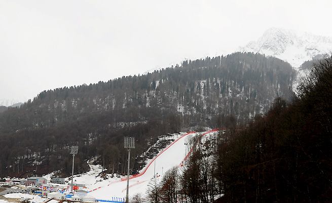 Twelve miles of track at Rosa Khutor Alpine Center will host all the alpine skiing events.