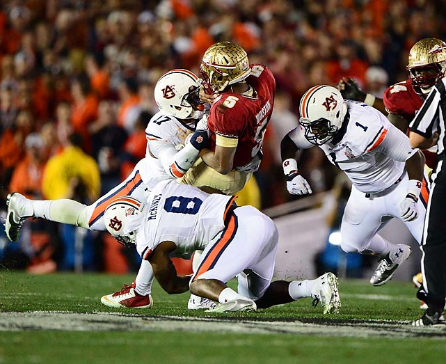 Auburn's defense constantly pressured Heisman winner Jameis Winston.
