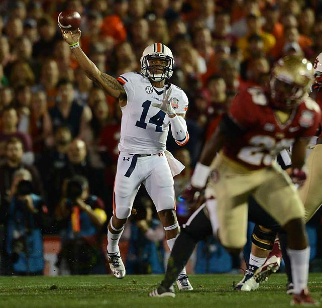 Nick Marshall finished the game 14-27 for 217 yards passing with two touchdowns and one interception.