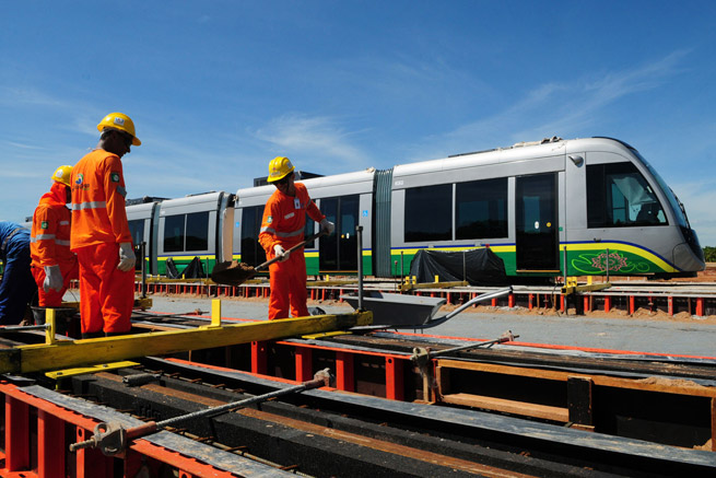 Work continues to be done on the light rail system in Cuiaba, but the Brazilian city won't have the mode of transportation available for the World Cup, as had been planned.