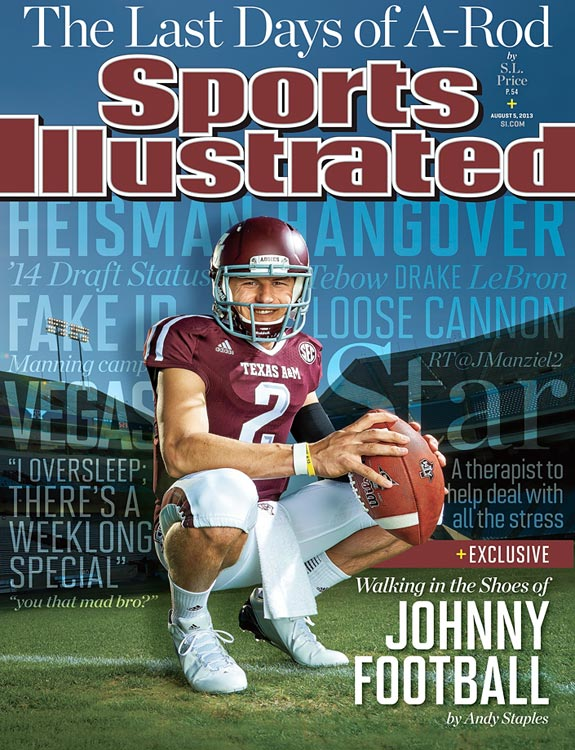 Manziel appears on the cover of the Aug. 5, 2013 issue of <italics>Sports Illustrated</italics>.