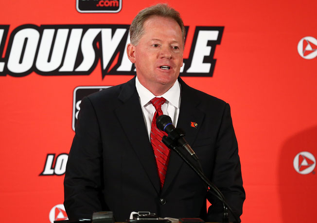 Louisville AD Tom Jurich introduced Bobby Petrino (above) as the Cardinals' new coach on Thursday.