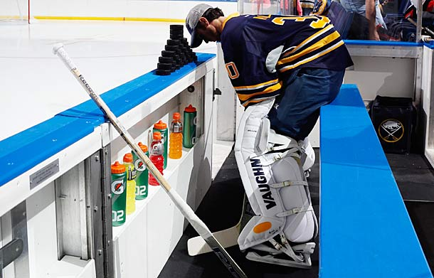 Goalie Ryan Miller will be going from the Sohi Olympics back to NHL action sooner than expected.