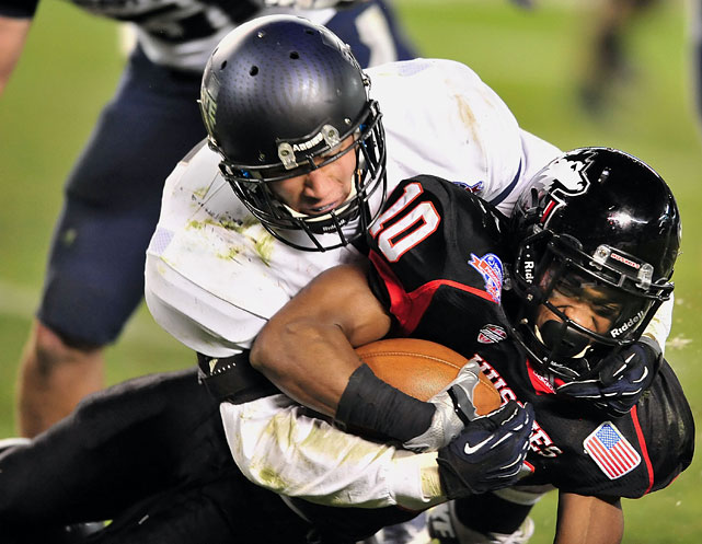 Northern Illinois quarterback Jordan Lynch entered the Poinsettia Bowl seeking one last college victory. Suite and the Aggies' defense had other plans. The Honolulu native intercepted Lynch in the third quarter and had 11 tackles and a fumble recovery in Utah State's 21-14 win.