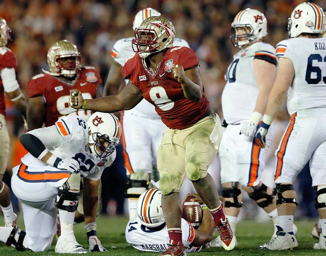 Jernigan was a menace in the BCS title game. He had nine tackles for the Seminoles' defense and kept Auburn quarterback Nick Marshall and the nation's top rushing attack from pulling away early in Florida State's championship victory.