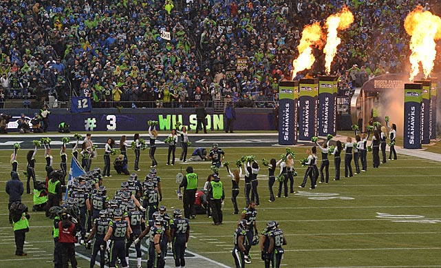 The Seattle fans turned out in droves to cheer on their team.